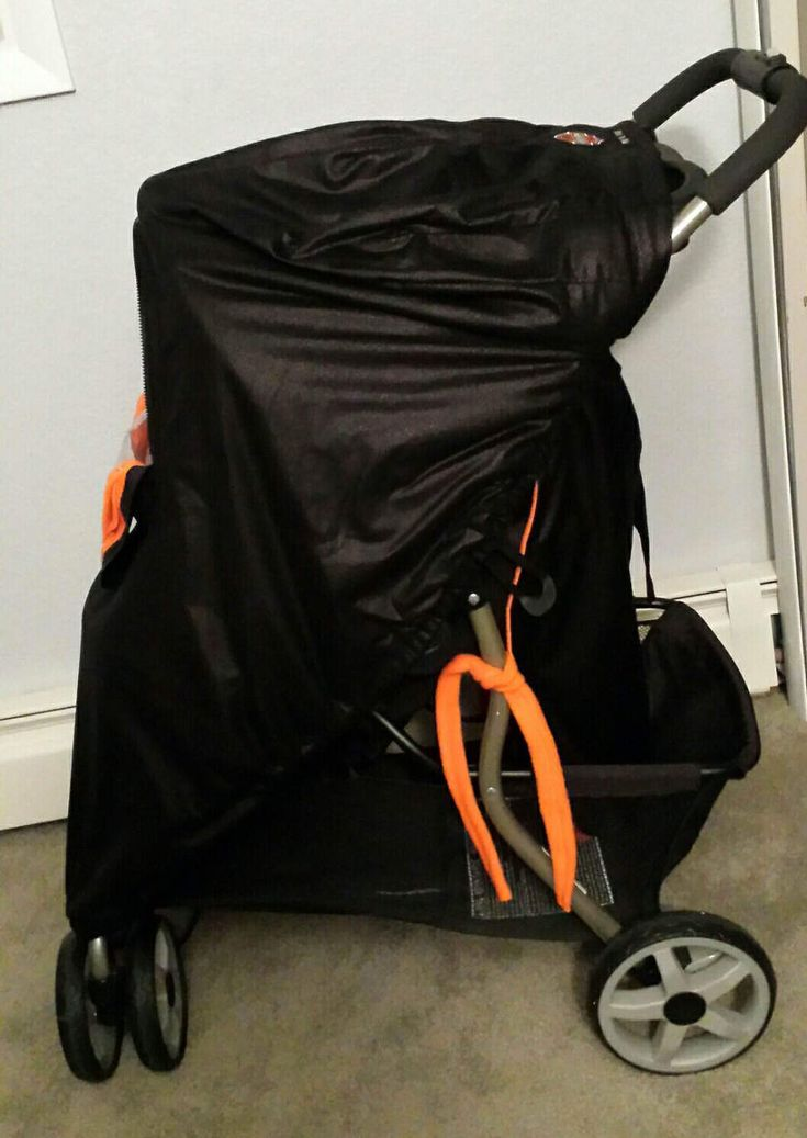 Stroller Cover Motorcycle Baby! Black Distressed Faux Suede, Blaze Orange Fleece Lining, Custom Embroidery Patch, Hand Made Car Seat Infant by mamasgotmecovered on Etsy