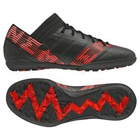 adidas Youth Nemeziz Tango 17.3 Turf Soccer Shoes (Black/Red): https://www.soccerevolution.com/store/products/ADI_14124_F.php