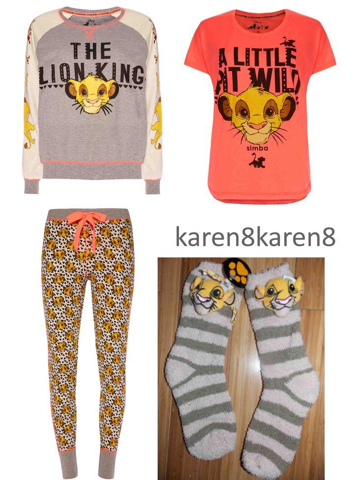 Lion King Simba Nala Pj's Pajamas on sale now at ebay account karen8karen8