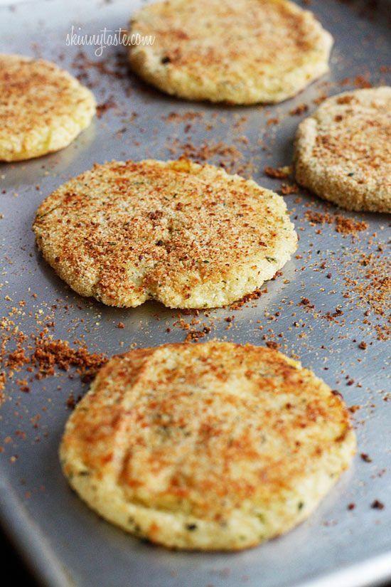 Parmesan Leftover Mashed Potato Patties from Skinny Taste 50 Thanksgiving Leftover Recipes.