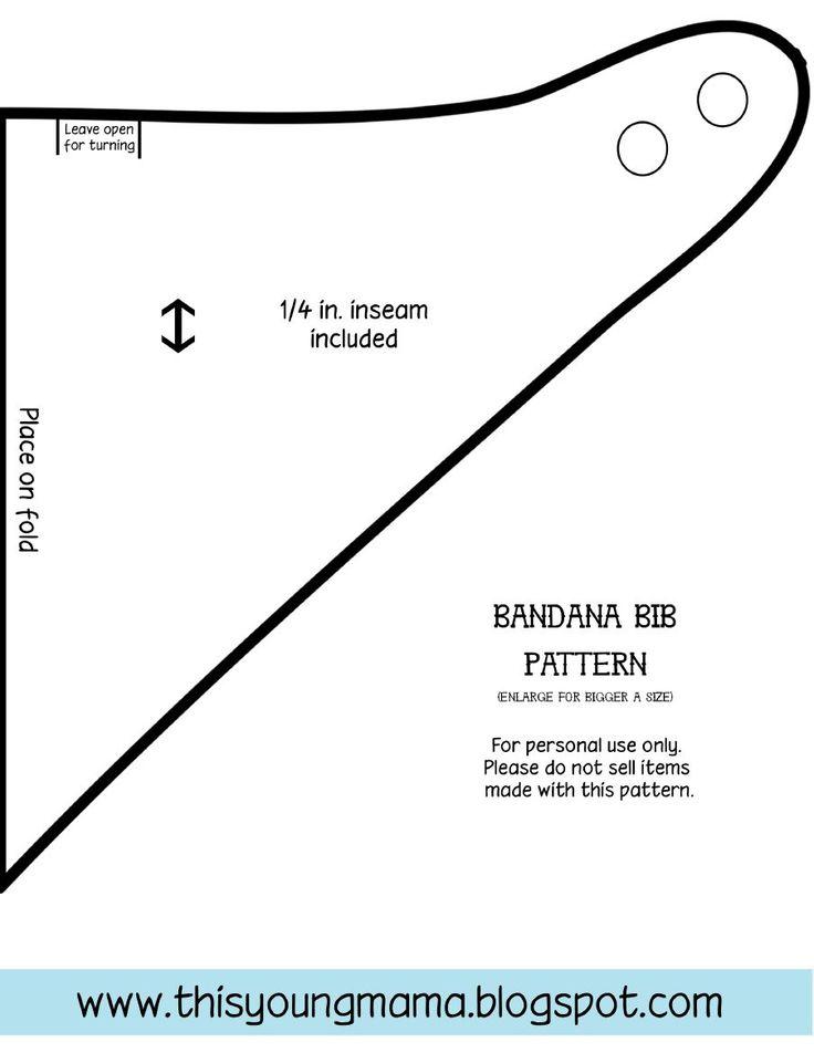 Patron bavoir bandana