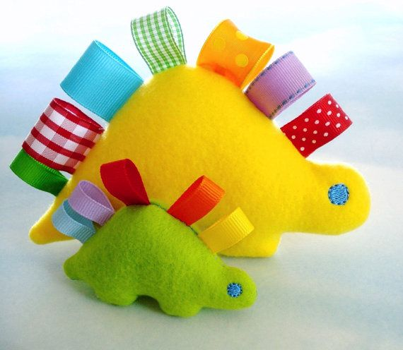 "Dinosaurs and other cute softie ideas,  I wish I could sew, these are super cute.... @Shauna (LilDuckieArts) maybe you could make these since you can make the ""taggie"" blankets?!?!?"