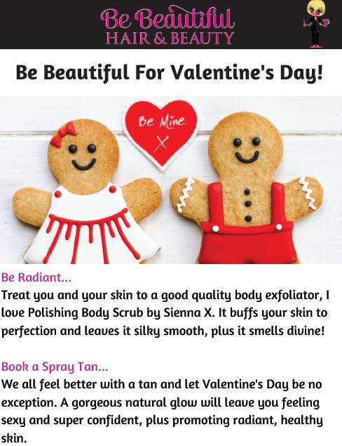 Be Beautiful for Valentine's Day. You can download the full article here; http://bebeautifulhairandbeauty.co.uk/tips-tricks/