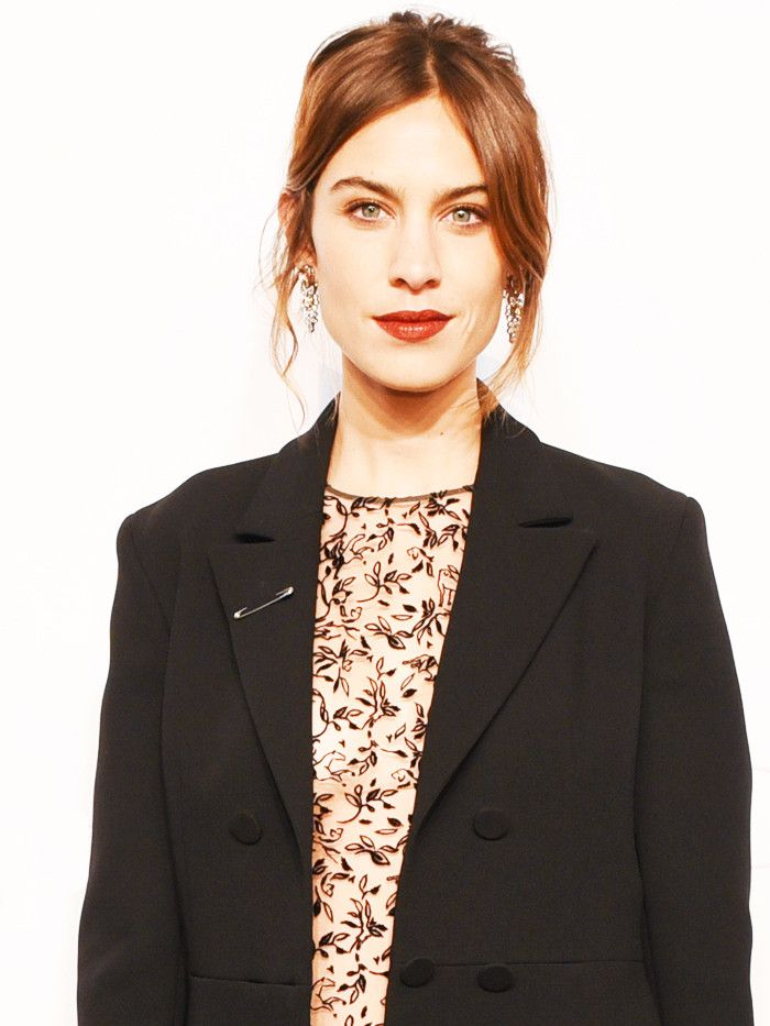 Trust Alexa Chung to Wear the Perfect No-Fuss Party Outfit via @WhoWhatWearUK