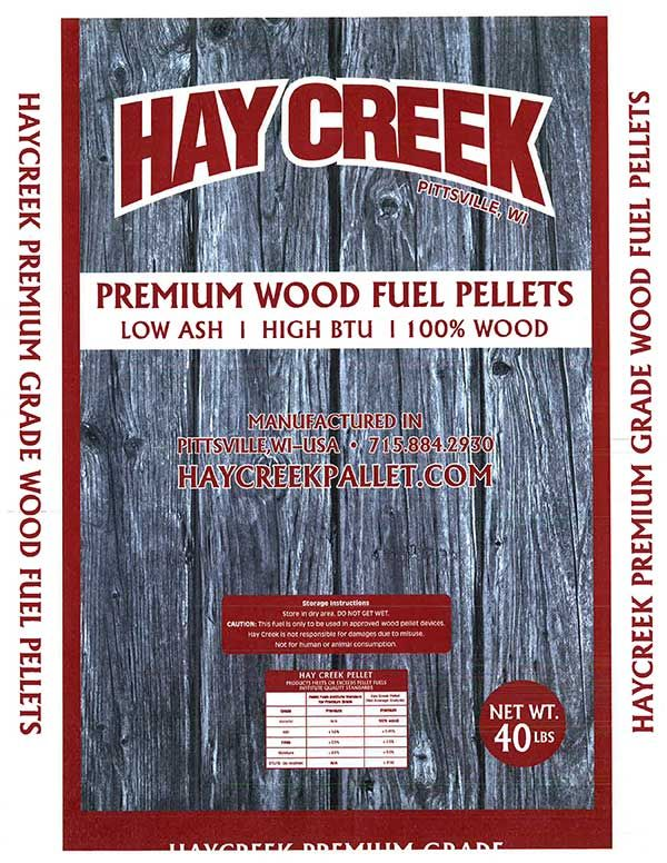 Premium Wood Fuel Pellets manufactured in central Wisconsin. Low ash. High BTU. Hay Creek Companies donates a portion of sales of pellets to help widows and orphans in India.