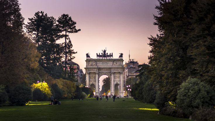 Arco Della Pace, Parco Sempione, #Milano #Italia.