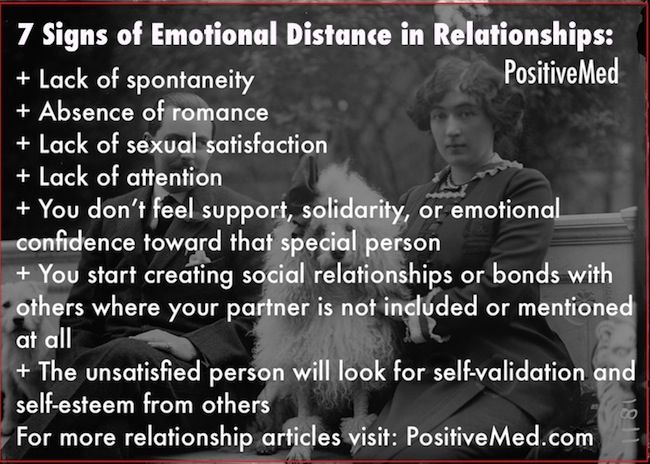 dating emotionally distant man The other day, i had a long talk with a good friend, she mentioned how emotionally distant i  please limit relationship/dating  homeless man learns.