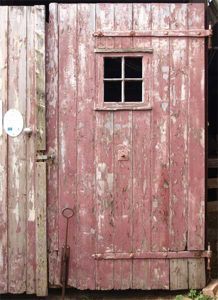 pink barn siding...doesn't get much better