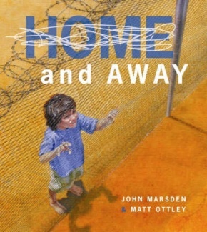 Home and Away by John Marsden and Matt Ottley  Diary/Journal Dystopia/Speculative. Age 12+ This chilling picture book, with its shrewdly punned title, enhances the reputations of its creators. Lauded in many circles and criticised in others, the book's polarising content is confronting. Home and Away poses the hypothetical situation that Australia is invaded. Those who can find enough money and valuables escape by boat to a supposedly better place.   http://amlib.det.wa.edu.au/webquery.dll