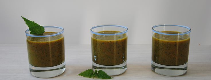 l'ORTIE plante maitresse de ce smoothie frais, tonique et très riche !