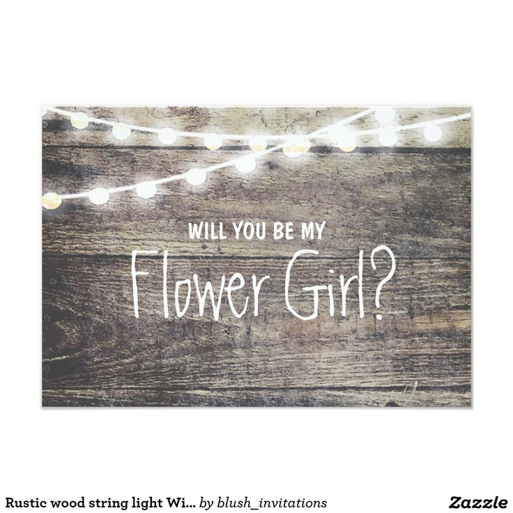 Rustic wood string light Will you be