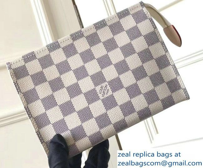 a7cf471e3dc2 Louis Vuitton Toiletry Pouch 19 Bag M47544 Damier Azur Canvas