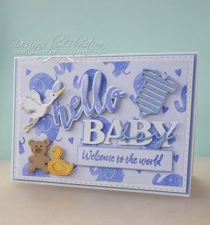 Flowers, Ribbons and Pearls: Baby Occasions - Baby Boy card