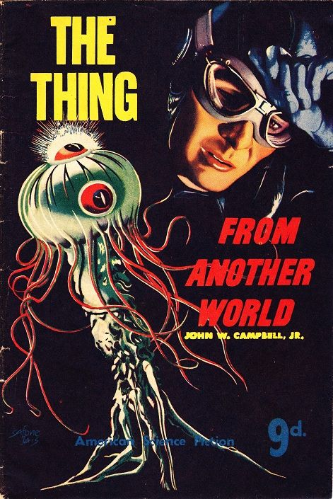 The Thing From Another World by John Campbell Jr. - Cover Art: Stanley Pitt (Safone Jais), 1952