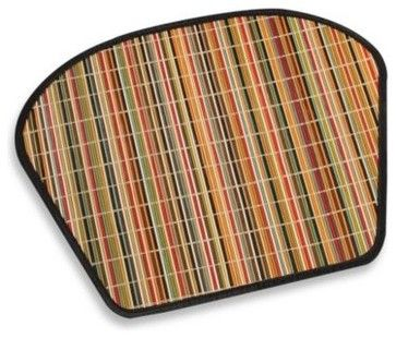 Bright Stripe Bamboo Placemat contemporary-placemats