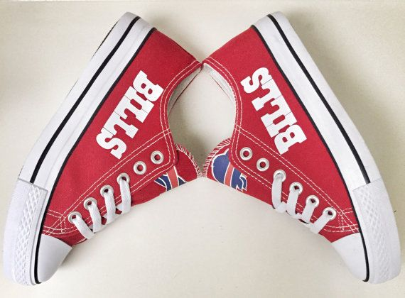 Custom BUFFALO BILLS Red/White Womens & Mens by Coast2coastkicks