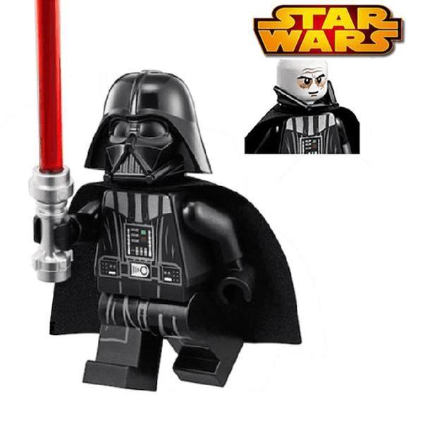 Star Wars Minifigure Darth Vader With Red Lightsaber Building Blocks Sets