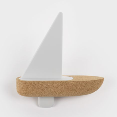 """""""Bote"""" by Big-Game (Lausanne studio) for Portugese company Materia / series of cork toy boats"""