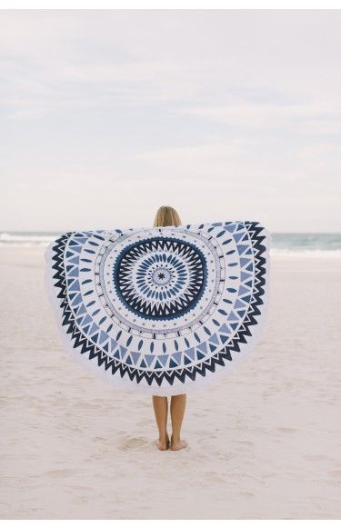 The Beach People Round Towel Majorelle | Beginning Boutique