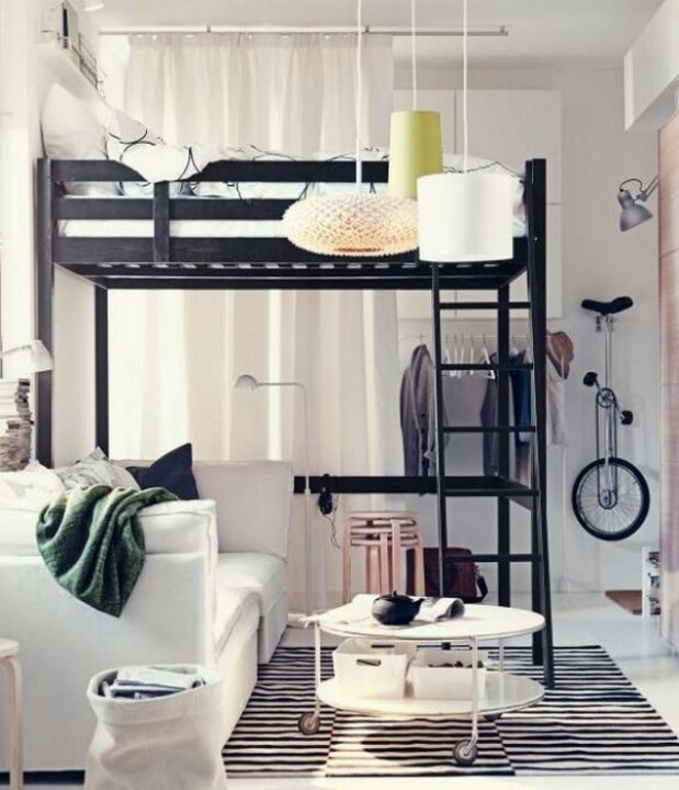 No need to sacrifice much needed space with a STORÅ loft bed frame