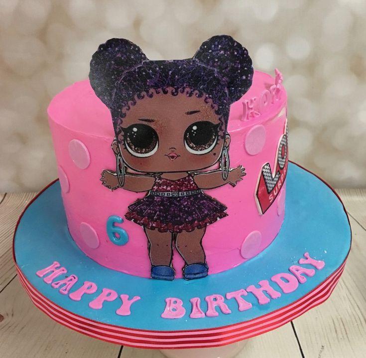 LOL Surprise Dolls Purple Queen Birthday Cake