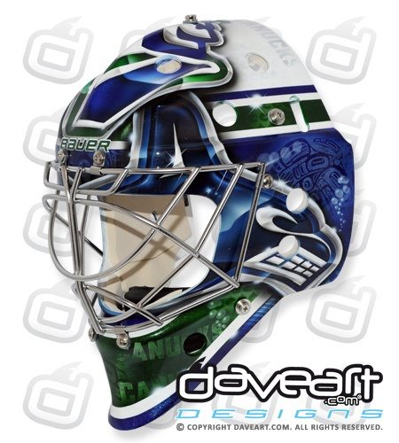 Cory Schneider's Vancouver Canucks Native Art Mask