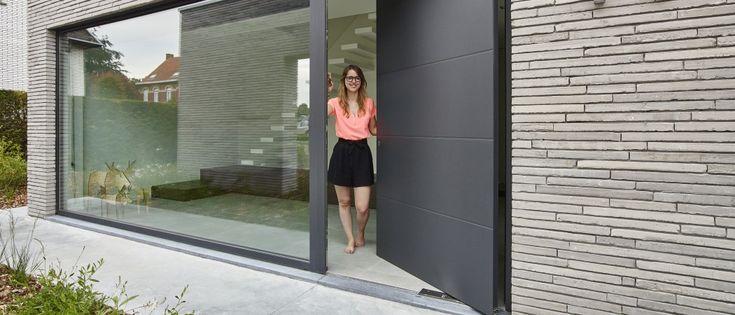 aluminium ramen en deuren ( deur in combinatie mat glas)
