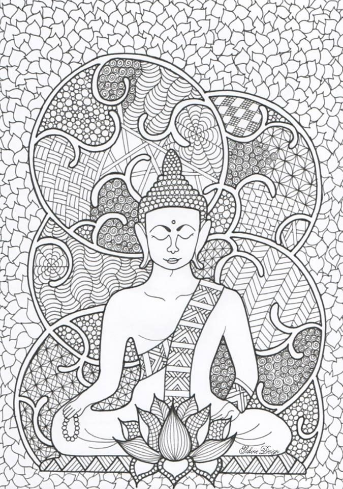 Pin By Anwesha On Art Pinterest Coloring Pages Buddha And Adult