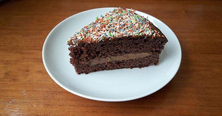 Bizcochuelo de chocolate esponjoso y húmedo   Cocina