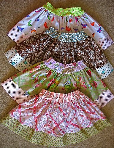 twirly skirts, I've made these before and they are so simple. Great beginner project. Perfect skirt for girls ages 1-8.