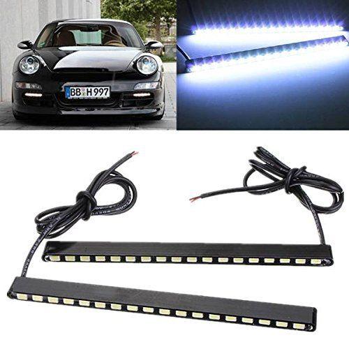 AUDEW 2 X18W Feux de Jour Auto Lampe DRL Diurne de Conduite 18 COB LED Voiture Ampoule 500LM DC 12V (Blanc Froid 7000K): Spécifications: DC…