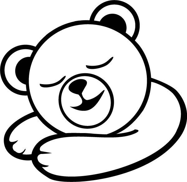 Sleeping Bear Template Baby wall decal-sleepy bear