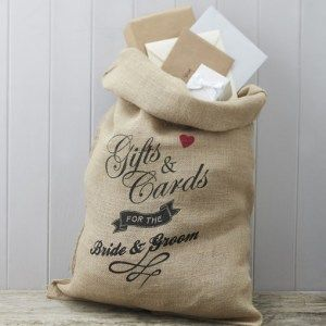 Hessian Gifts Cards Bag