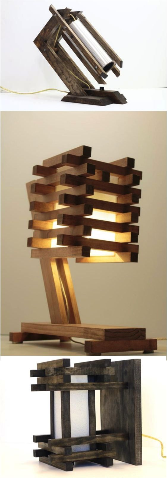 These beautiful lamps are so modern and unique. Your guests won't be able to talk about anything else! | Made on Hatch.co