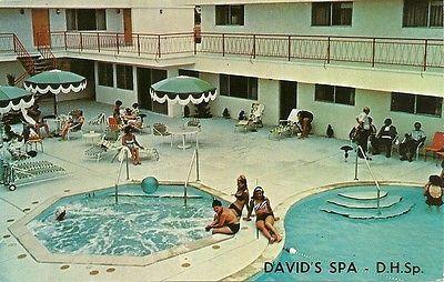 "Desert Hot Springs CA  ""David's Motel/Mineral Spa Pools""  Postcard  California"