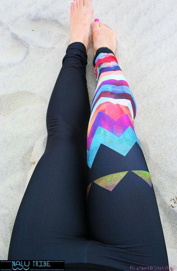 LEGGING 'MONTAUK Chevron' Style Legging for SURF by NaluTribe