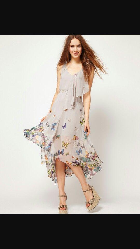 Vestito  con farfalle stampate