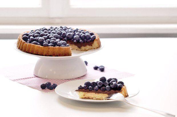 Blaubeerkuchen mit Ovomaltine Crunchy Cream