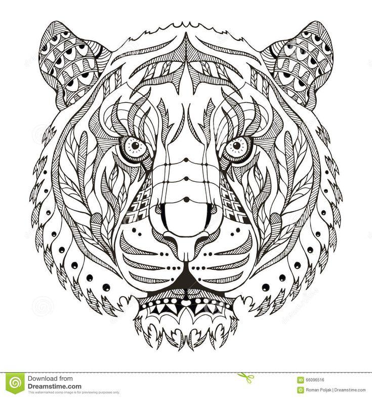 M s de 25 ideas incre bles sobre tigre mandala en - Mandalas de tigres ...