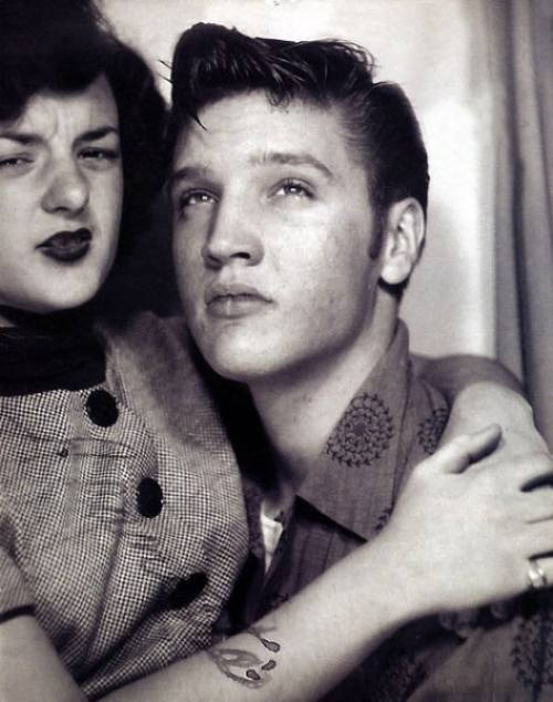 Elvis Presley & Friend in a Photo Booth, 1950s
