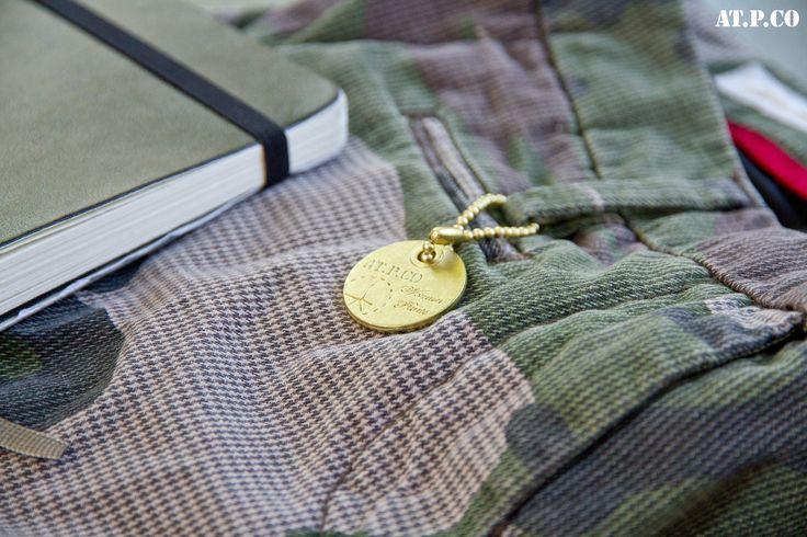 Il #camouflage incontra la leggendaria agenda di #viaggio nella collezione #ATPCO donna A/I 2014-2015.  #Camo meets the legendary #travel #diary in ATPCO #Woman F/W 2014-2015 collection.