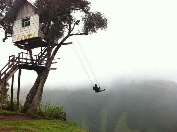 L'altalena ai margini del mondo #ecuador #Baños #LaCasaDelArbol