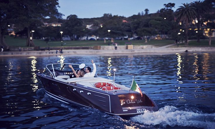 Arrive by water to your Watsons Bay wedding on a luxury boat! #arriveinstyle #watsonsbay #boat #wedding