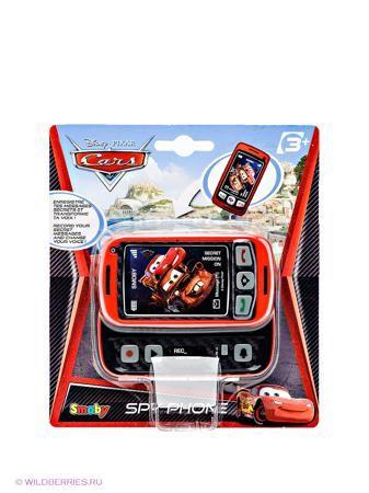 """Smoby Телефон Шпиона """"Тачки 2""""  — 680р. ------------------------ Мобильный телефон выполнен в стиле Тачки-2 с картинкой персонажей мультфильма: Молния Маккуин и Мэтр. На первый взгляд это обычный телефон, но в нужный момент он быстро превращается в секретное орудие, которое позволит агенту записать свое важное сообщение, а функция трансформации голоса позволит это сообщение засекретить. Особенности: Громкость не регулируется, звук телефона и воспроизведения записанного сообщения тихий, что…"""