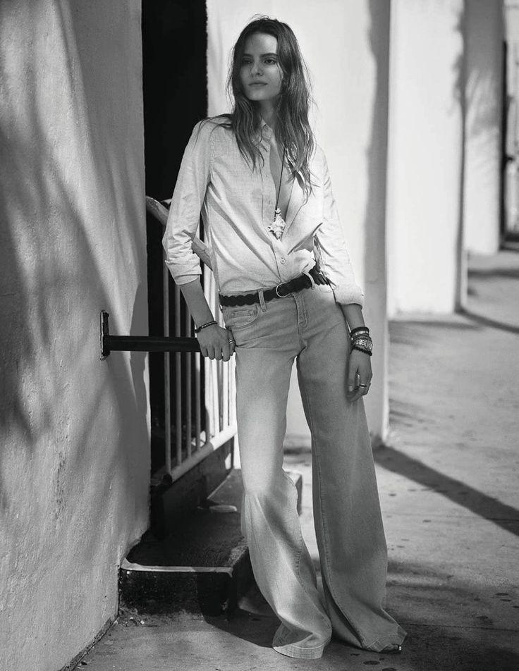 Photography: David Burton. Styled by: Barbara Baumel. Hair: Dennis Devoy. Makeup: Eric Polito. Model: Tilda Lindstam.