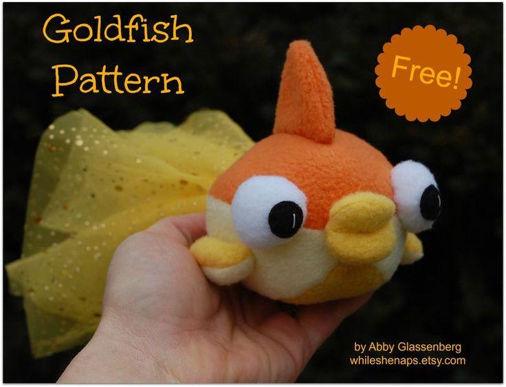 DIY -  TUTORIAL - FREE PATTERN - Goldfish Sewing Pattern