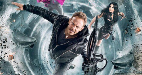 Ian Ziering and Tara Reid are joined by Sharknado star Cassie Scerbo, along with some destroyed world monuments in the Sharknado 5 poster.