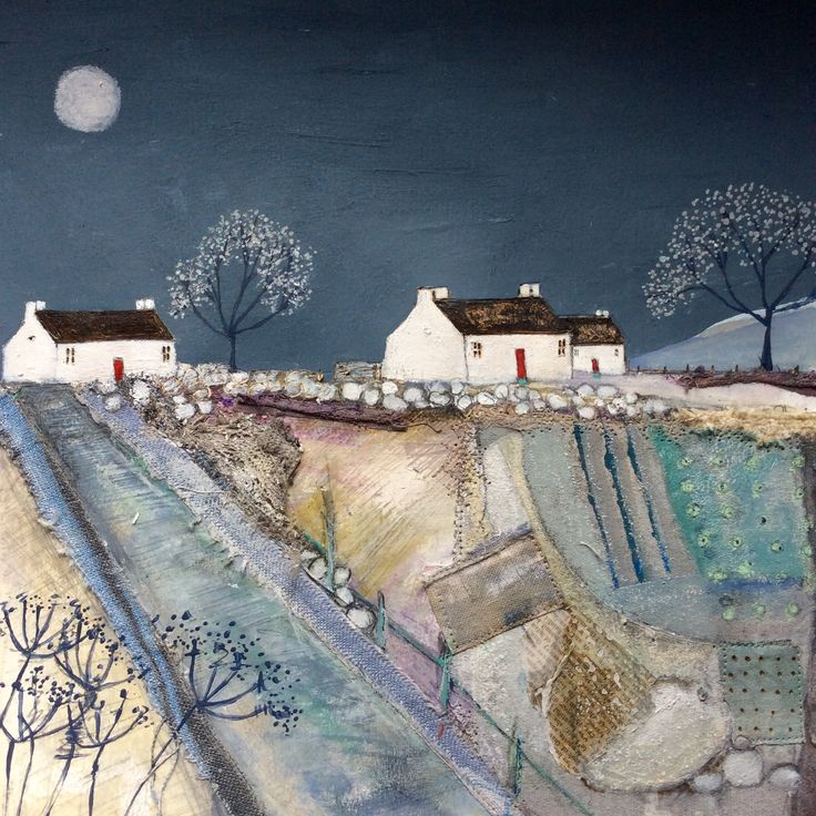 ''A quilted meadow by Moonlight'' By Louise O'Hara