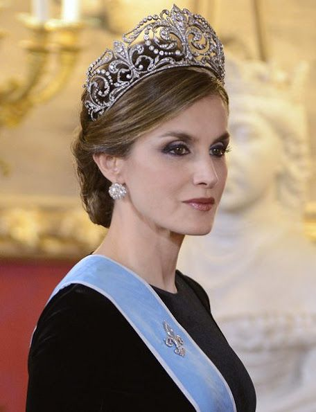 In the evening of February 22nd, Spain's King Felipe and Spain's Queen Letizia, Argentina's President Mauricio Macri and his wife Juliana Awada attended a Gala Dinner at the Royal Palace in Madrid, Spain.