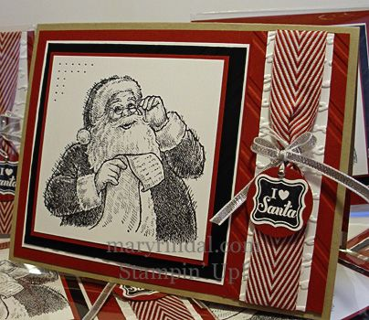 stampin up, christmas card, santa's list